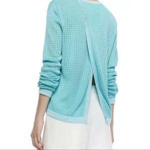 Rag & Bone Ariana Split Back Top Pullover Sweater